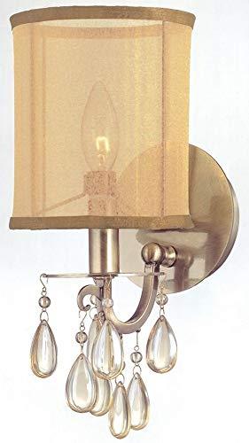 (Hampton 1 Light Wall Sconce Finish: Antique Brass )