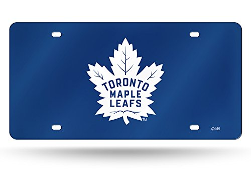 (NHL Toronto Maple Leafs Laser Inlaid Metal License Plate Tag, Blue)