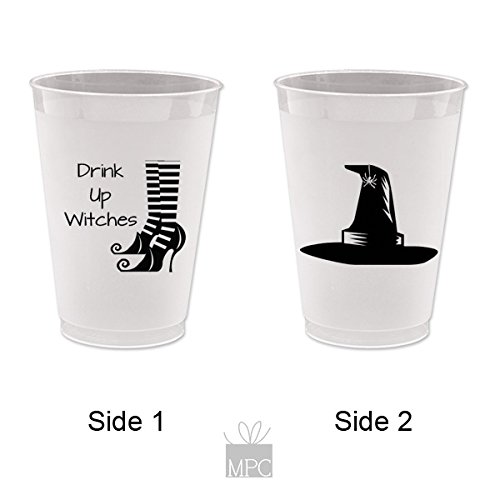 Halloween Frost Flex Plastic Cups - Drink up Witches