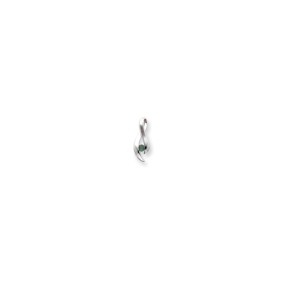 14k White Gold 3mm Round Stone Mounting Length 20 Width 7