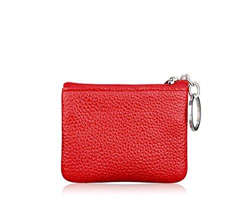 cremallera mujer monedas Monedero para para de con Doitsa Rojo Piel bolso mini Negro 10X7cm sintética sintética multifuncional piel bolsa 1 unidad tF7ccwqOp