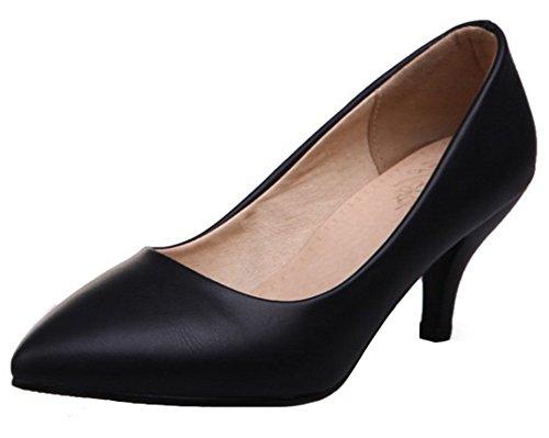 Black kitten heels wide width - Trenters.com