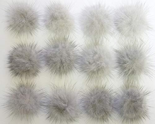 Natural grey mink fur pompom Wholesale lot 12 pcs, 35mm Mink fur ball from Romantic Wedding