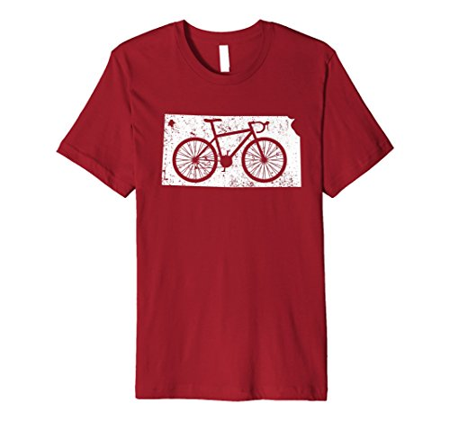 Mens Cute Unique Vintage Kansas Cycling Gift T-Shirt XL Cranberry