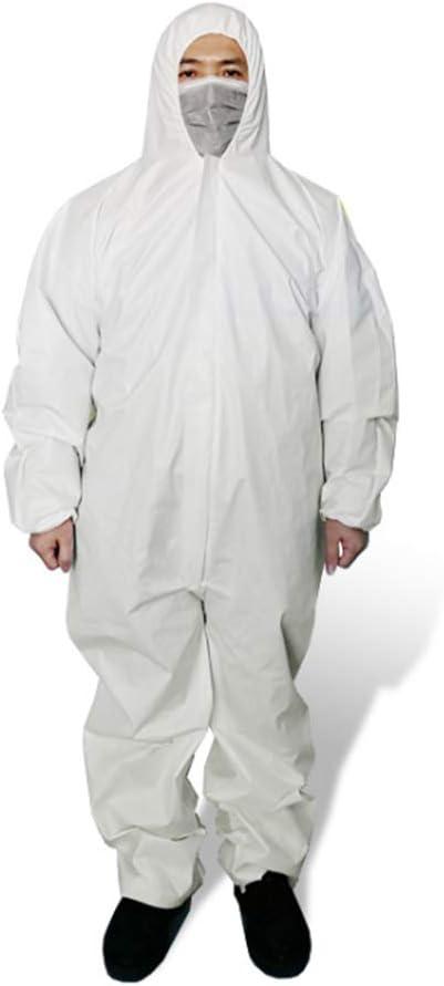 CGBF-Mono Desechable Traje de Protección Ropa de Protección, Desechable Médico Bata Antiestática a Prueba de Polvo, de Alta Antibacteriana Prevenir La Invasión del Virus de Seguridad Ropa,XXL