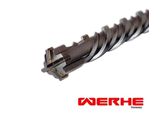 WERHE SDS Plus Betonbohrer 16 x 600 mm Hammerbohrer Steinbohrer Beton Bohrer