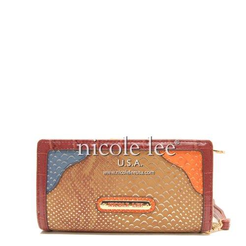 (Nicole Lee Arcadia Multimedia Blocking Wallet Collection, Brown)