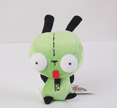 Wanna2017 Alien Invader Zim Dog Suit Gir Robot Plush Doll Toy 5 inch Xmas ()