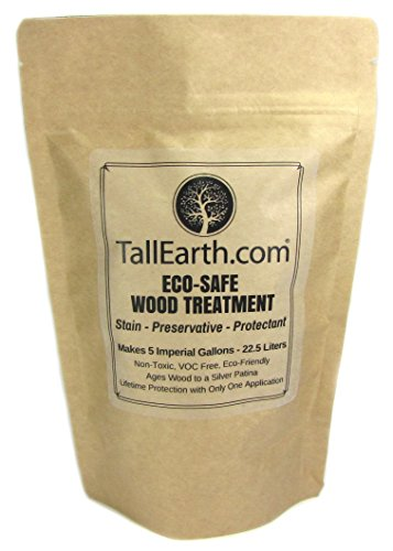 Tall Earth TEESWT5G Eco-Safe Wood Treatment, Stain and Preservative, Non-Toxic/VOC Free/Natural Source, 1/3/5 gal (5 gal)
