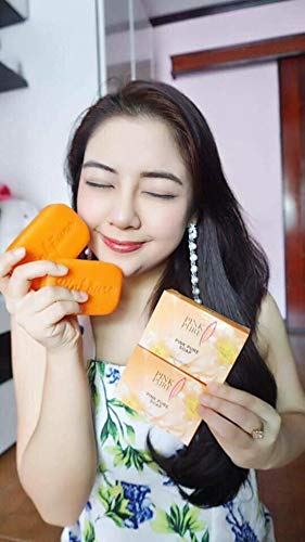 10 Units of Pink Pure Soap 100g. Brightening Aura Skin Care Reduce Dark Spot Acne Wrinkle Gentle formulation With Coconut oil Carrot Vitamin B3[Get Free Tomato Facial Mask] by Pink Pure Soap (Image #2)