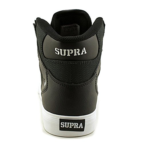 bambino Unisex Sneaker Supra Herringbone Nylon Black Leather 8Pqq1w7