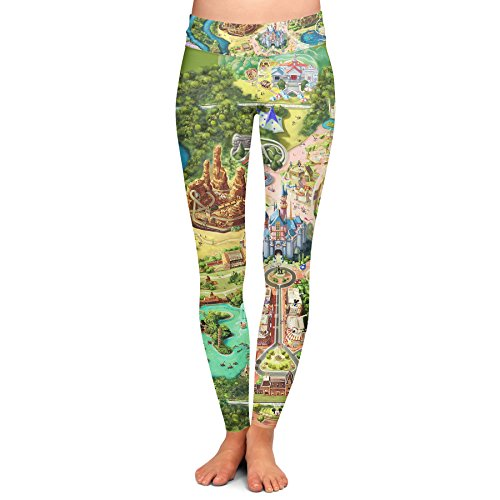 Disneyland Colorful Map Yoga Leggings - Full Length, Low - Land Shop Disney
