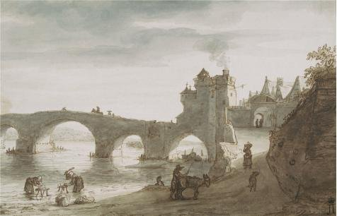'Bridge Across The Loire At Amboise, Second Half Of 1640s By Lambert Harmensz Doomer' Oil Painting, 10x16 Inch / 25x40 Cm ,printed On Perfect Effect Canvas ,this Best Price Art Decorative Canvas Prints Is Perfectly Suitalbe For Kitchen Gallery Art And Home Decoration And Gifts
