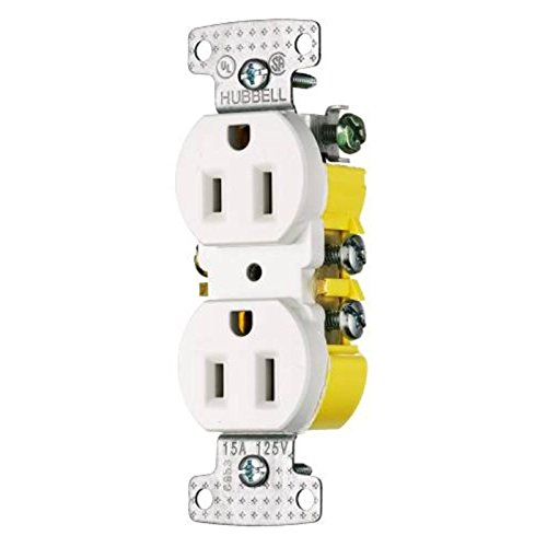 Bryant Electric RR15SW Electrical Receptacle, Outlet, White