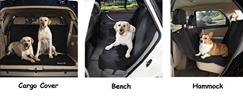 Black Classic Car Seat Covers-Travel Dog Choose From Bench Cargo Or Hammock by Defonia Petsupplies