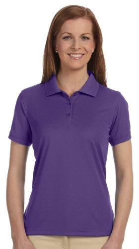 Devon & Jones Women's Short Sleeve Dri-Fast Advantage Solid Mesh Polo Golf Shirt DG385W Purple 2XL (Shirt Mesh Solid)