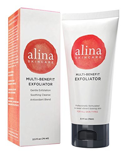 Alina Skin Care Multi-benefit Exfoliator for Deep Cleansing - Moisturizes, Nourishes, Soothes & Promotes Glowing, Radiant Skin, 2.5 Ounce
