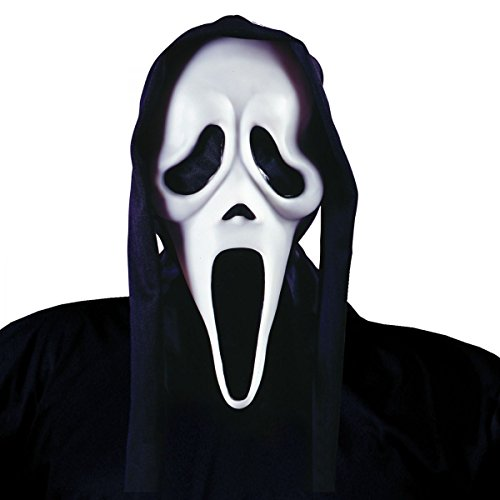 [Ghost Face Mask with Shroud Scream Adult Mens Halloween Costume Accessory] (Halloween Costume Ideas 2016 Men)