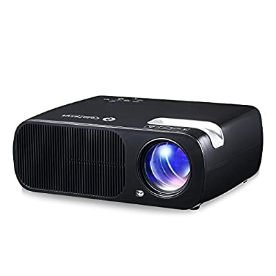 ColoFocus 1080P Multimedia HD LED Projector ,2600 Lumens with HDMI/VGA/USB/AV/TV for Video TV Movie Party Game Home Cinema Theater