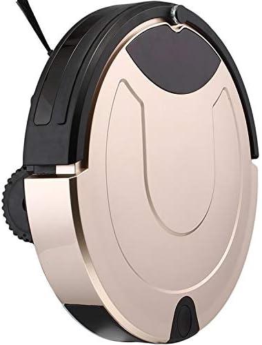 Robot Aspirateur et Mop, Bonne TC-650 intelligent Aspirateur Écran tactile Ménage Balayer Nettoyage robot avec télécommande (noir), Pour planchers durs et tapis (Color : Red) Gold