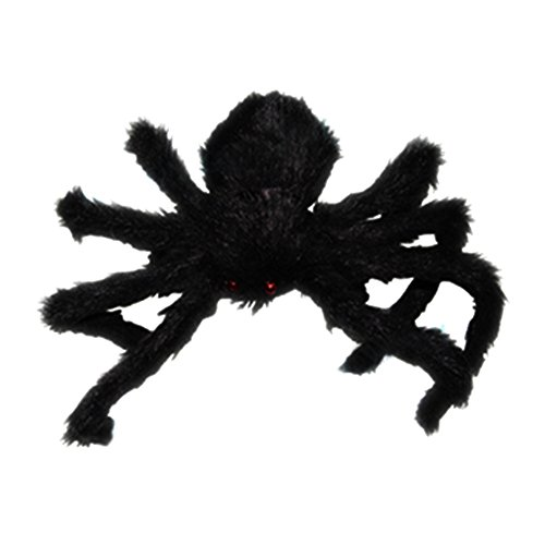 ANPI New Large Black Fake Spider, Halloween Realistic Fake Spider Plush Puppet Prank Jokes Toy Halloween Party Decorations Props, 75cm (Nightmare Puppet Halloween)