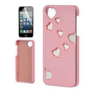 APPLE IPHONE 5 5S PINK HEART MIRROR HYBRID REFLECTIVE COVER HARD GEL CASE + FREE SCREEN PROTECTOR from [ACCESSORY ARENA]