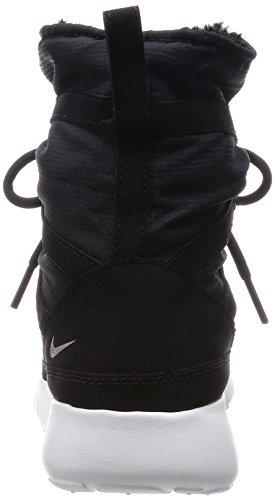 Nike Mädchen Roshe One Hi Flash (GS) Turnschuhe Schwarz / Silber / Weiß (Schwarz / Metallic Silber-SMMT Wht)