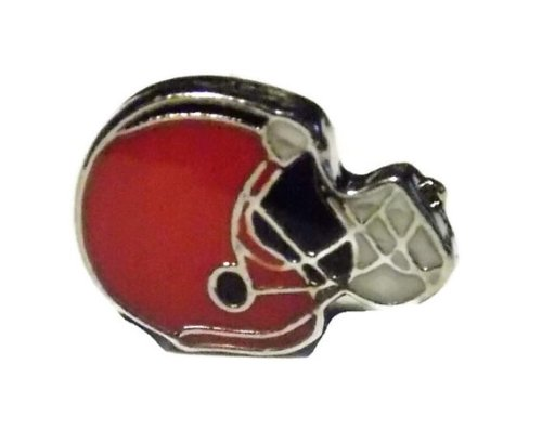 Football Helmet Floating Locket Charm Old School Geekery Brand Floating Locket Sports Team Charm for Floating Lockets