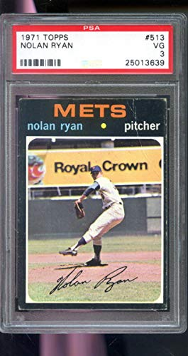 - 1971 Topps #513 Nolan Ryan New York Mets PSA 3 Graded Baseball Card