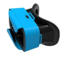 VR Shinecon 3.0 Mini Virtual Reality Headset, Use with Smartphones iOS & Android - Blue