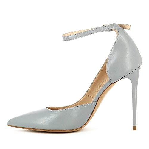 aperta Alina semi in pumps pelle Evita da liscia grigio donna Shoes wHqS5TPY