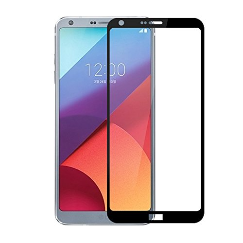 - LG G6 Screen Protector Tempered Glass, Feitenn 3D Curved Edge Full Cover Screen Film 0.2mm HD Clear Gorilla Glass Protector Film For LG G6 (Black)