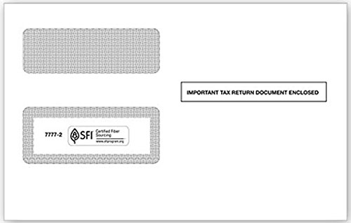 EGP IRS Approved Self Seal 1099 Tax Form Envelope