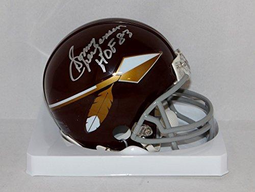 Sonny Jurgensen Signed Washington Redskins Spear Mini Helmet W/HOF - JSA W Auth