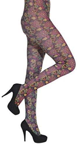 Fancy Me Hippy Tights - Disfraz de Hippie para Mujer (Años 60, 70 ...