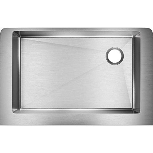 Elkay ECTRUF30179R Crosstown Undermount Single Bowl Apron Sink, Stainless Steel