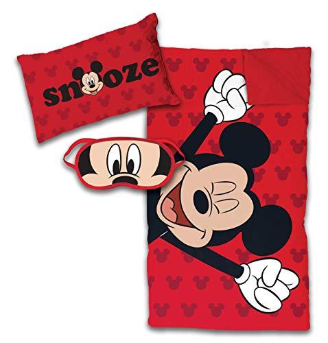Jay Franco Disney Mickey Mouse 3 Piece Slumber Set, Red]()