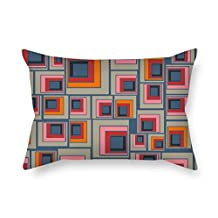 Geometry Pillowcover Best For Girls Club Dinning Room Husband Valentine Sofa 20 X 30 Inches / 50 By 75 Cm(2 Sides)