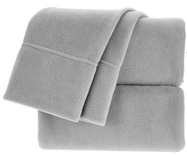 Berkshire Blanket Polarfleece Sheet Set (King, Grey) ()