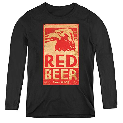 Archer Red Beer Label Adult Long Sleeve T-Shirt for Women, Large