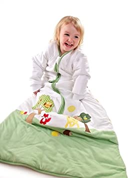 Slumbersafe Kid Sleeping Bag Long Sleeves 2.5 Tog - Forest Friends, 3-6 years/XL