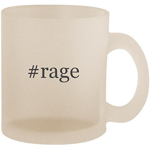 #rage - Hashtag Frosted 10oz Glass Coffee Cup Mug