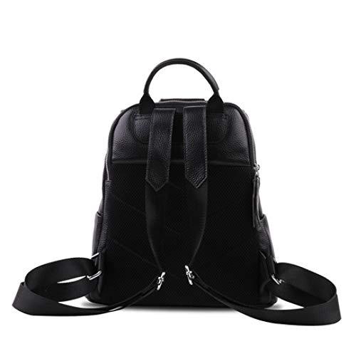 LUCKBA handväskor för kvinnor, dubbelaxlade kvinnors huvudlager Edifer 2019 ny vintage kvinnors axelväska läder damväska