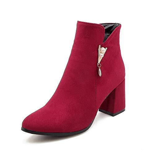 Women's E Boots Con Stivaletti Donna Da Red Largo Basso Tacco Alti 8xr8wnBU