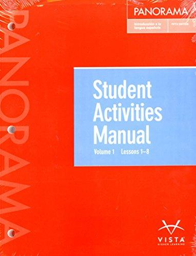 Panorama 5th Ed Vol 1 (Chp 1-8) Student Activities Manual