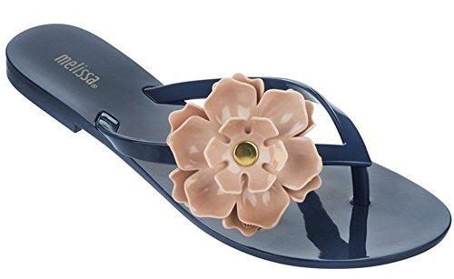 45e0e53c5bc0 Galleon - Melissa Womens Harmonic Flower Sandal Blue Size 7