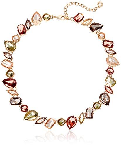 Anne Klein Women's Gold-Tone Multi Stone Collar Necklace, 0