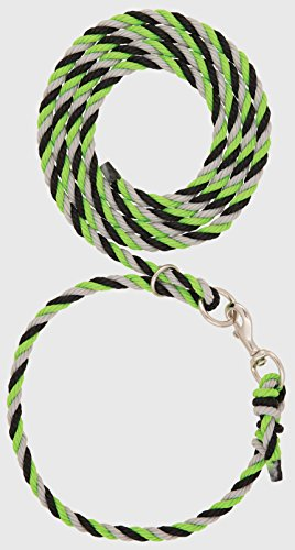 Weaver Leather Livestock Livestock Adjustable Poly Neck Rope, Lime Zest/Black/Gray, 1/2