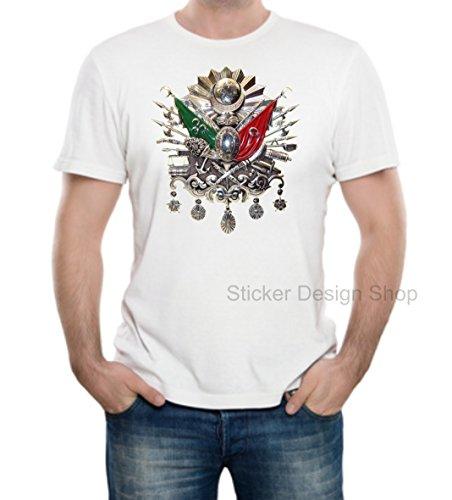 Osmanli Armasi T-Shirt Druck Baumwolle Fruit of The Loom Türkiye Istanbul Tugra