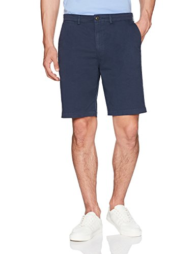 Goodthreads Men's Flat-Front Stretch Chino Short, Navy, 36
